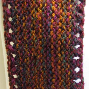 Marbius Handknit Cowl close-up